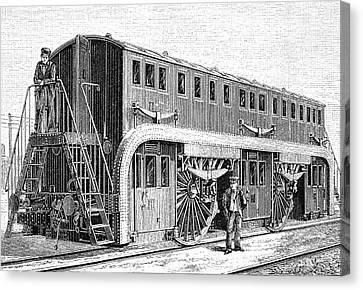 19th Century Double-decker Train Carriage Canvas Print