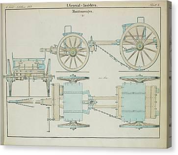 19th Century German Ammunition Carriage Canvas Print