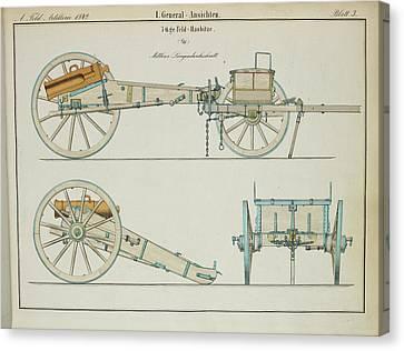19th Century German Artillery Piece Canvas Print by British Library