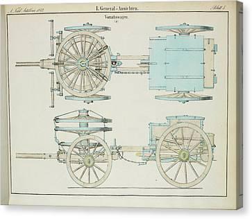19th Century German Artillery Repair Cart Canvas Print by British Library
