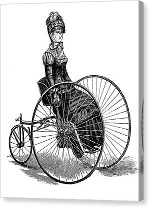 19th Century Ladies Handcar Canvas Print