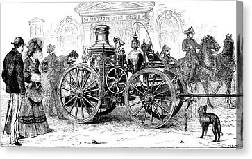 19th Century Steam Fire Pump Canvas Print