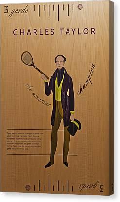 19th Century Tennis Player 3 Canvas Print by Maj Seda