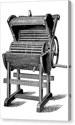 Washing Machine Canvas Print - 19th Century Washing Machine by Bildagentur-online/tschanz