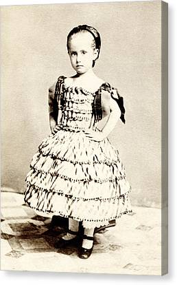 1865 Defiant American Girl Canvas Print by Historic Image
