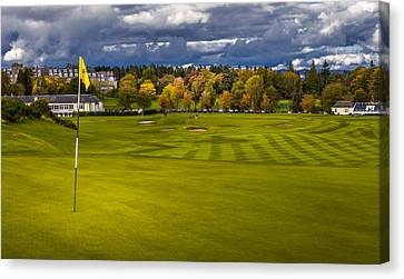 Prints For Sale Kings Golf Course Gleneagles Canvas Print by Alex Saunders