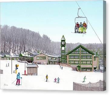 1st Snow At Hidden Valley Canvas Print by Albert Puskaric