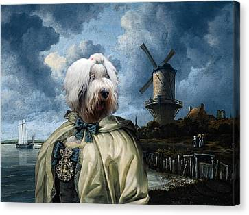 Bobtail - Old English Sheepdog Art Canvas Print Canvas Print