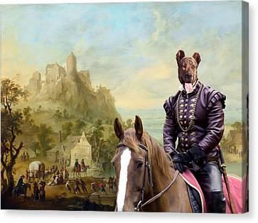 Cao Fila De Sao Miguel - Azores Cattle Dog Art Canvas Print Canvas Print