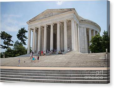 Thomas Jefferson Memorial Canvas Print by Carol Ailles