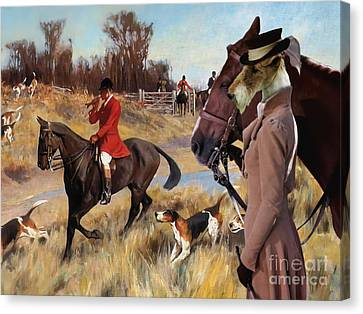 Fox Terrier Canvas Print -  Wire Fox Terrier Art Canvas Print by Sandra Sij