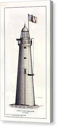 1852 Minot's Ledge Lighthouse Canvas Print