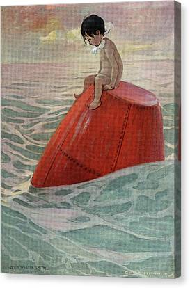 Tom Boy Canvas Print - 1910s 1916 Illustration From The Water by Vintage Images