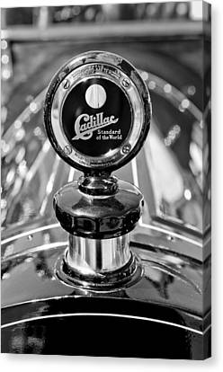 Motometer Canvas Print - 1911 Cadillac Roadster Hood Ornament by Jill Reger