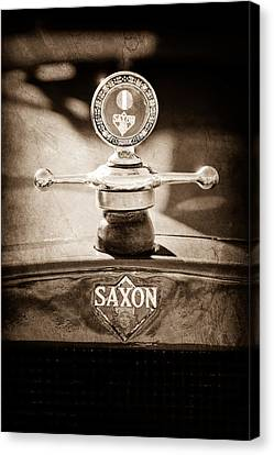 1915 Saxon Roadster Hood Ornament Canvas Print by Jill Reger