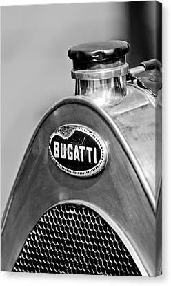 1920 Bugatti Type 13 Grille Emblem Canvas Print by Jill Reger