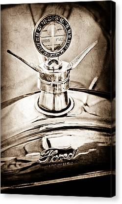 1923 Ford Model T Hood Ornament Canvas Print by Jill Reger