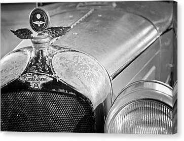 Motometer Canvas Print - 1926 Duesenberg Model A Boyce Motometer - Hood Ornament by Jill Reger