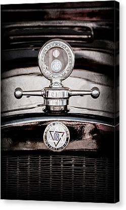 1928 Dodge Brothers Hood Ornament - Moto Meter Canvas Print by Jill Reger