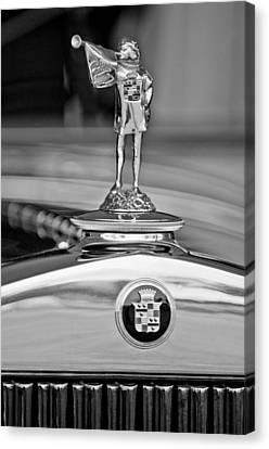 1929 Cadillac 1183 Dual Cowl Phaeton Hood Ornament Canvas Print by Jill Reger