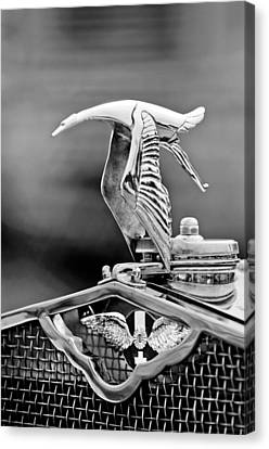 Hispano Suiza Canvas Print - 1930 Hispano-suiza H6c Kellner Transformable Hood Ornament by Jill Reger