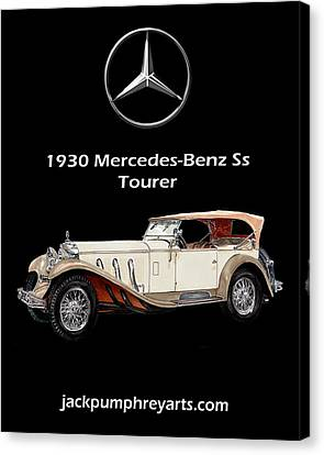 1930 Mercedes Benz Ss Tourer Canvas Print by Jack Pumphrey
