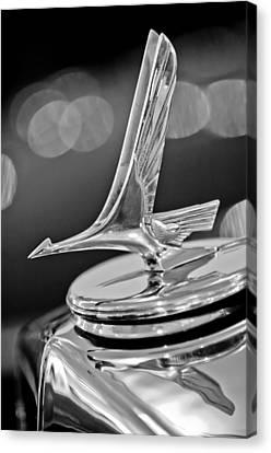 1932 Studebaker Dictator Custom Coupe Hood Ornament -0850bw Canvas Print by Jill Reger
