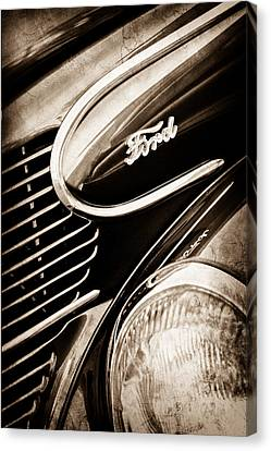 1939 Ford Woody Wagon Side Emblem Canvas Print by Jill Reger