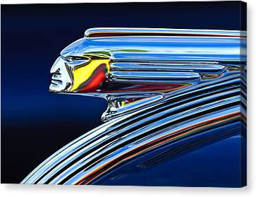 1939 Pontiac Silver Streak Chief Hood Ornament Canvas Print by Jill Reger