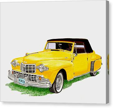1946 Lincoln Continental Mk I Canvas Print by Jack Pumphrey