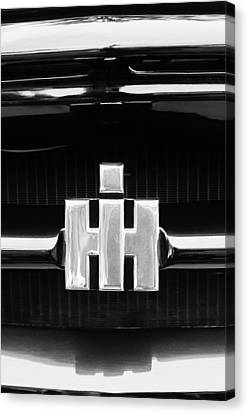 Woodies Canvas Print - 1954 International Harvester R140 Woody Grille Emblem by Jill Reger