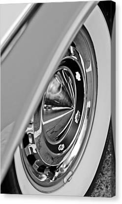 1955 Chevrolet Belair Wheel Canvas Print by Jill Reger
