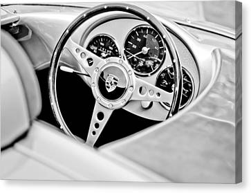1955 Porsche Spyder Replica Steering Wheel Emblem Canvas Print by Jill Reger