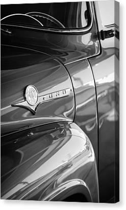 1956 Ford F-100 Truck Emblem Canvas Print by Jill Reger