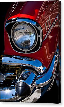 1957 Chevy Bel Air Custom Hot Rod Canvas Print by David Patterson