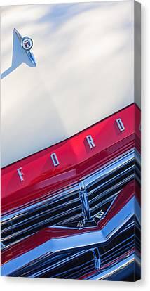 1957 Ford Custom 300 Series Ranchero Hood Ornament - Emblem Canvas Print by Jill Reger