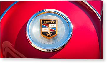 1960 Chrysler Imperial Crown Convertible Emblem Canvas Print by Jill Reger