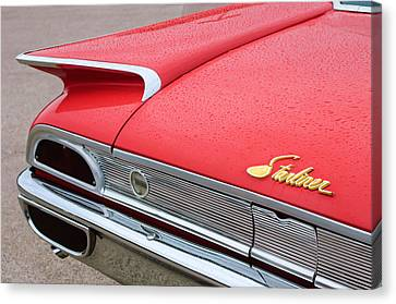1960 Ford Galaxie Starliner Taillight Emblem Canvas Print by Jill Reger