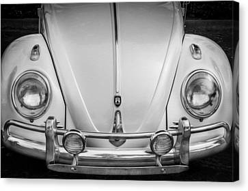 1960 Volkswagen Beetle Vw Bug   Bw Canvas Print by Rich Franco