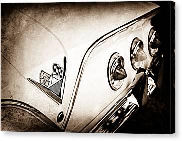 Convertible Caricature Classic Car Art Print 1958 Chevrolet Bel Air Impala