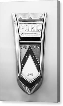 1963 Ford Falcon Futura Convertible  Emblem Canvas Print