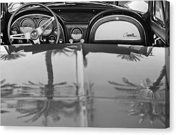 Sting Ray Canvas Print - 1965 Chevrolet Corvette Sting Ray by Jill Reger