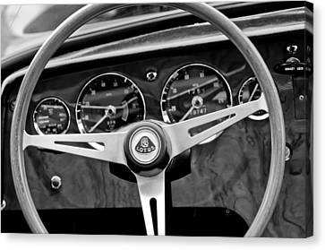 1965 Lotus Elan S2 Steering Wheel Emblem Canvas Print by Jill Reger