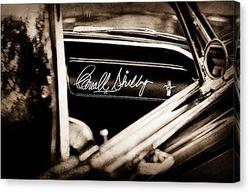 1965 Shelby Prototype Ford Mustang Carroll Shelby Signature Canvas Print by Jill Reger