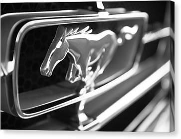 1965 Shelby Prototype Ford Mustang Grille Emblem Canvas Print