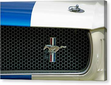 1966 Shelby Gt 350 Grille Emblem Canvas Print by Jill Reger