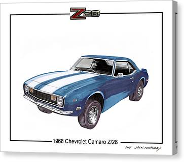 1968 Chevrolet Camaro Z 28 Canvas Print