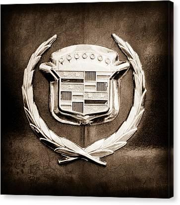 1969 Cadillac Eldorado Emblem Canvas Print by Jill Reger
