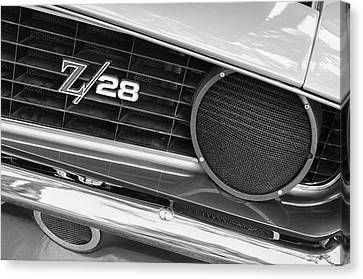 1969 Chevrolet Camaro Z28 Grille Emblem Canvas Print