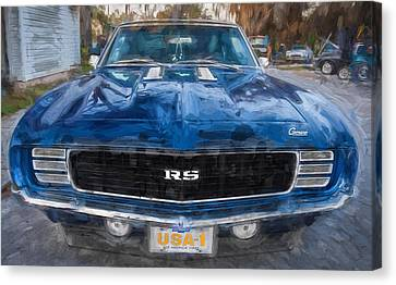 1969 Chevy Camaro Rs Painted   Canvas Print by Rich Franco